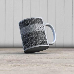 la Magie dans l'Image - mug anis blanc noir 2 - Mug