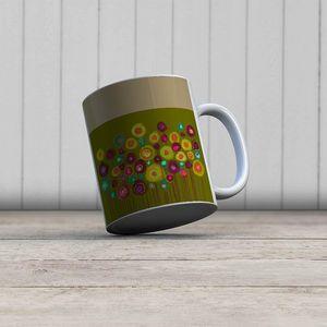 la Magie dans l'Image - mug bouquet vert - Mug