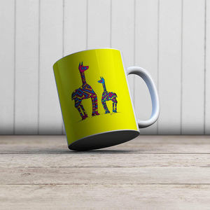 la Magie dans l'Image - mug lamas jaunes - Mug