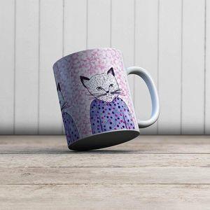 la Magie dans l'Image - mug mon petit chat fond fluo - Mug