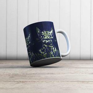la Magie dans l'Image - mug monsieur chat bleu - Mug