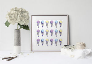 la Magie dans l'Image - print art glace pastel - Estampe