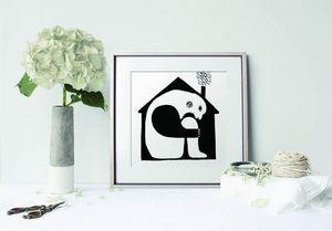 la Magie dans l'Image - print art maison noir et blanc - Poster