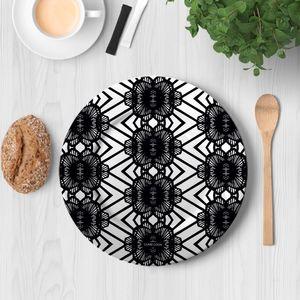 la Magie dans l'Image - assiette african noir - Assiette De Présentation