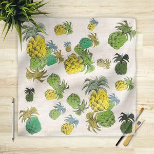 la Magie dans l'Image - foulard ananas motif - Foulard Carré