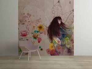 la Magie dans l'Image - grande fresque murale fée d'automne - Papier Peint Panoramique