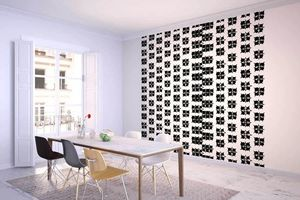 la Magie dans l'Image - grande fresque murale lotus blanc noir - Papier Peint Panoramique