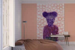la Magie dans l'Image - grande fresque murale ma petite souris fond rose - Papier Peint Panoramique