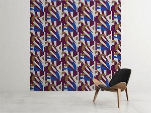 la Magie dans l'Image - grande fresque murale pétales prune - Papier Peint Panoramique
