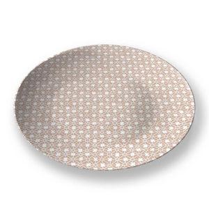 la Magie dans l'Image - assiette trfle beige blanc - Assiette De Présentation