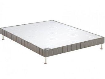 Bultex - bultex sommier tapissier confort ferme gris souri - Sommier Fixe À Ressorts