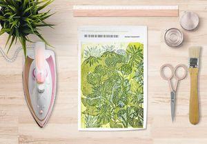 la Magie dans l'Image - papier transfert hibiscus et roses - Transfert