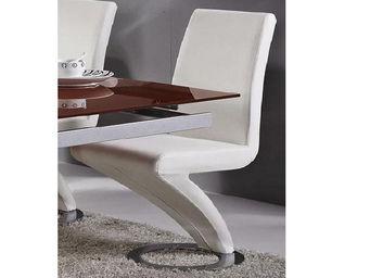 WHITE LABEL - chaises divina ? lot de 2 - Chaise Réception