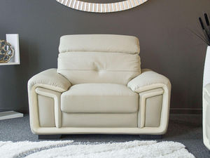 WHITE LABEL - fauteuil cuir hamilton - Fauteuil