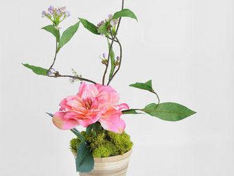 NestyHome - ikebana vase bambou - Fleur Artificielle