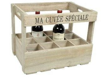 Clementine Creations - caisse 12 bouteilles  - Range Bouteilles