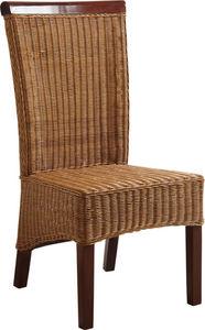 Aubry-Gaspard - chaise en rotin et acajou - Chaise