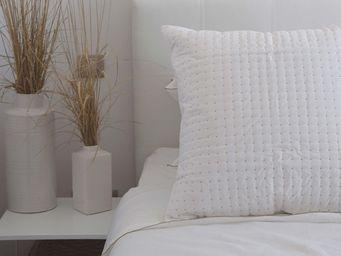 MAISON D'ETE - taie d'oreiller plumetis blanc - naturel - Taie D'oreiller