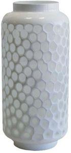 Aubry-Gaspard - vase nid d'abeille en verre teinté - Vase À Fleurs