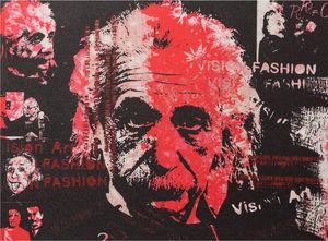 KOKOON DESIGN - toile murale imprimée enstein - Tableau Décoratif