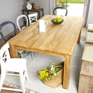 BOIS DESSUS BOIS DESSOUS - table en bois de teck rectangulaire 180 boston - Table De Repas Rectangulaire
