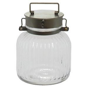 CHEMIN DE CAMPAGNE - bonbonnière bocal en verre et fer 22 cm - Bonbonnière