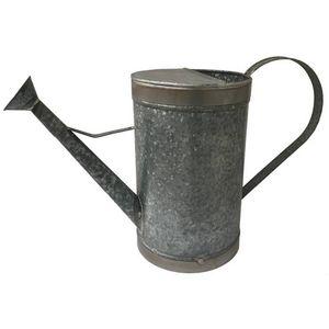 CHEMIN DE CAMPAGNE - style ancien arrosoir de jardin en fer galva 3 lit - Arrosoir