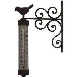 CHEMIN DE CAMPAGNE - thermomètre mural en fer fonte et zinc - Thermomètre