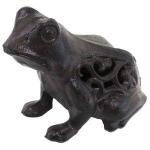 CHEMIN DE CAMPAGNE - statue de grenouille crapaud cache-clef clé bougie - Photophore