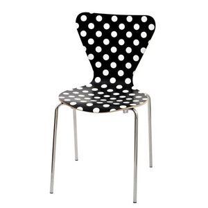 Mathi Design - chaise design à pois blancs ou noirs - Chaise