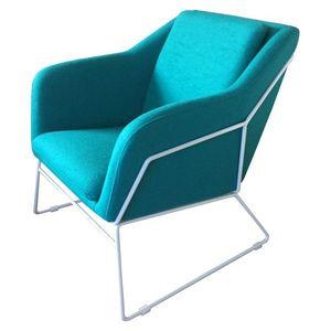 Mathi Design - fauteuil narvik bleu - Fauteuil