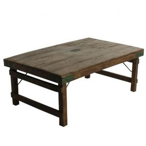 Mathi Design - table basse en bois antic - Table Basse Rectangulaire
