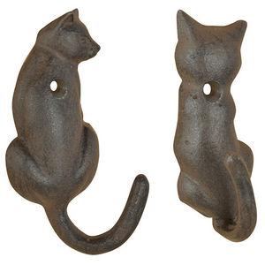 Esschert Design - patère queue de chat en fonte (lot de 2) - Patère