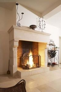 Occitanie Pierres -  - Chemin�e � Foyer Ouvert
