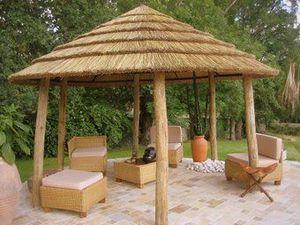 Casa-Africa - savannalodge ronde 4 m sur 6 poteaux - Paillote
