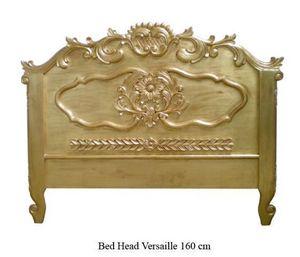 DECO PRIVE - tête de lit en bois doré modèle versailles 160 cm - Tête De Lit