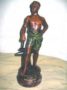 AUX MAINS DE BRONZE - forgeron - Sculpture