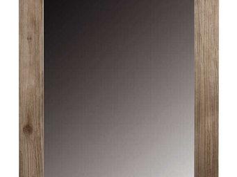 ZAGO - miroir rectangulaire en teck teinte - Miroir