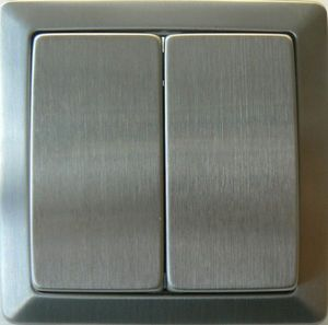 TOOSHOPPING - interrupteur double va et vient inox - Interrupteur
