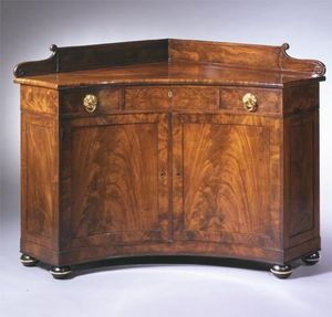 CARSWELL RUSH BERLIN - rare brass-mounted mahogany corner sideboard - Buffet D'angle