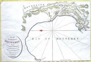 ARADER GALLERIES - carte de la baie de monterey, n. califor - Carte Géographique