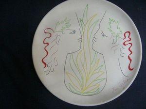 SYLVIA POWELL DECORATIVE ARTS - orphee et eurydice - Assiette Décorative