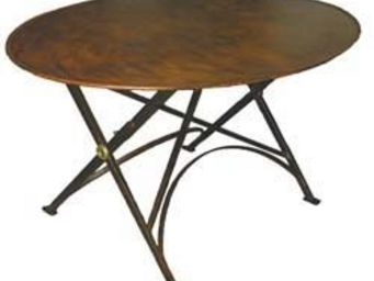 Jardinieres & Interieurs - table ovale pliante rouillé - Table De Repas Ovale