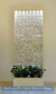 ETIK&O - murmure d'� galets naturels blancs - Mur D'eau