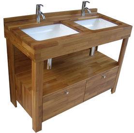 tulipier meuble double vasque iroko atlantic bain. Black Bedroom Furniture Sets. Home Design Ideas