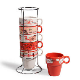 Tour 6 tasses brasserie porte tasses maisons du monde - Porte photo maison du monde ...