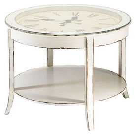 Table basse blanche teatime table basse ronde maisons - Table de salon maison du monde ...