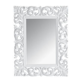 miroir rivoli blanc 90x7 miroir maisons du monde decofinder. Black Bedroom Furniture Sets. Home Design Ideas