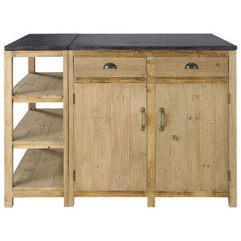 pagnol ilot de cuisine maisons du monde decofinder. Black Bedroom Furniture Sets. Home Design Ideas