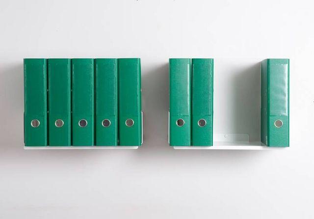 2bu etag re de bureau blanc acier l 45 cm p 25 cm for Bureau 45 cm de profondeur